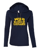 WILD ABOUT NAVY LONG SLEEVE TEE W/HOOD