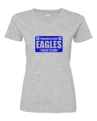 LICENSE GREY LADIES V-NECK TEE