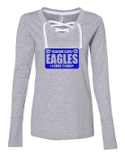 LICENSE GREY LADIES LACE UP LONG SLEEVE