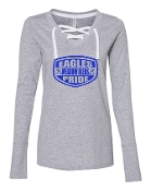 SHIELD GREY LADIES LACE UP LONG SLEEVE