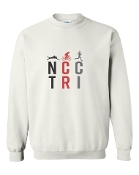 #1 DESIGN WHITE CREW SWEATSHIRT