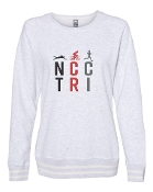 #1 DESIGN WHITE RELAY CREW SWEATSHIRT