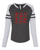 #2 DESIGN CHARCOAL LADIES MASH UP LONG SLEEVE