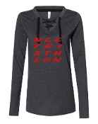 #2 DESIGN CHARCOAL LADIES LACE UP LONG SLEEVE