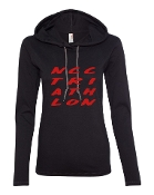 #2 DESIGN BLACK LONG SLEEVE TEE W/HOOD