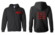 #2 DESIGN BLACK FULL ZIP HOODIE SWEATSHIRT