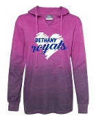 BIG HEART PURPLE LADIES OMBRE HOODED HEAVY SHIRT